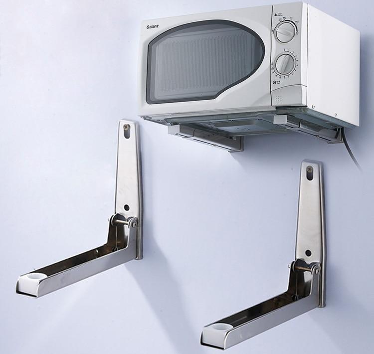 2PCS/SET Wall Mount Stainless Steel Microwave Shelf ...