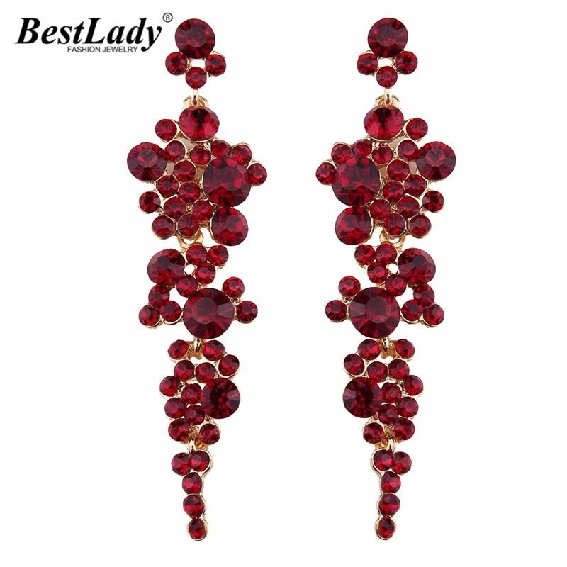 Best lady 2016 Fashion Juvelierizstrādājumi Luxury Beads Long auskari sievietēm Kāzu Iesaistīšanās Charm Hot Boho Dangle Drop Auskari 3925