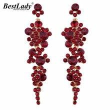 Best lady 2016 Fashion Jewelry Luxury Beads Long Earrings For Women Wedding Engagement Charm Hot Boho Dangle Drop Earrings 3925