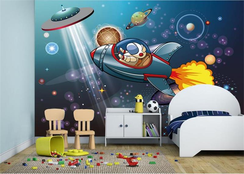 Custom 3D Photo Wallpaper Murals Kids Room Non Woven Wallpapers Space  Shuttle Astronauts Boy Painting Sofa TV Background Bedroom In Wallpapers  From Home ...