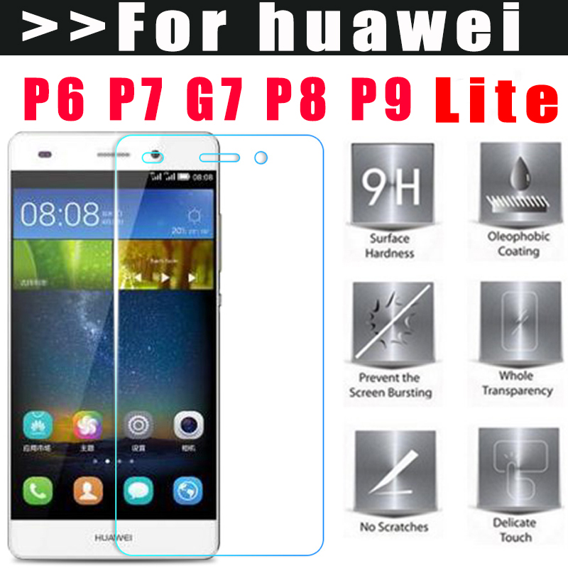 MLLSE 9H Tempered Glass for Huawei P8 P9 lite P6 P7 G7 NOVA G9 P9 plus screen protector for huawei p10 glass film for p8