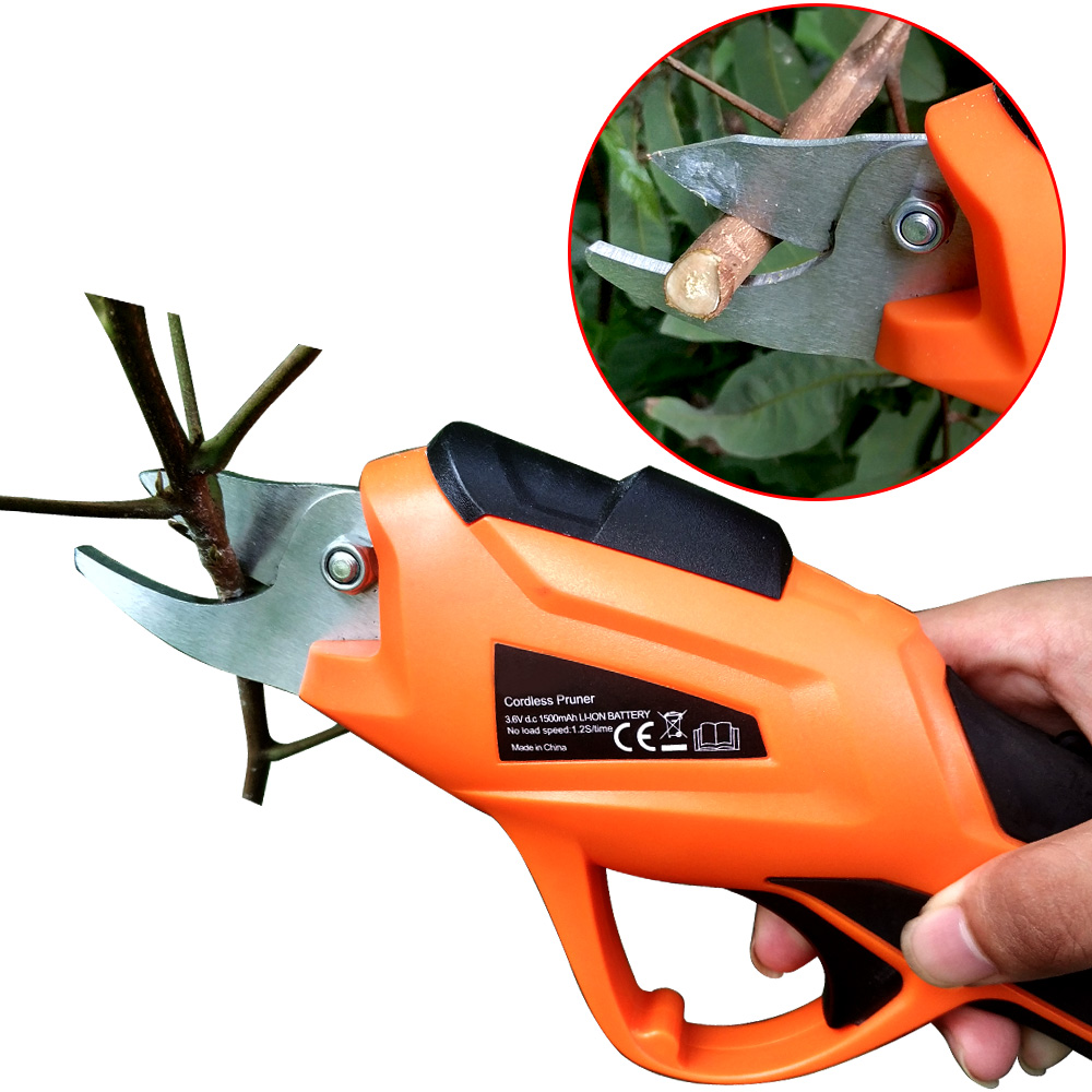 RDDSPON Electric Pruning Shears 10mm 3.6V Li-ion Battery Suitable For Fruit Tree Branches Pruning Garden Pruning Shears ET1505