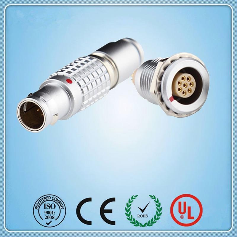 Lemo Connector,2B  8 pins Metal electrical push pull  Plug and receptacle ,Cross LEMO FGG.2B.308  EGG.2B.308 женский топ brand new 2015 decration 6 4 ql822