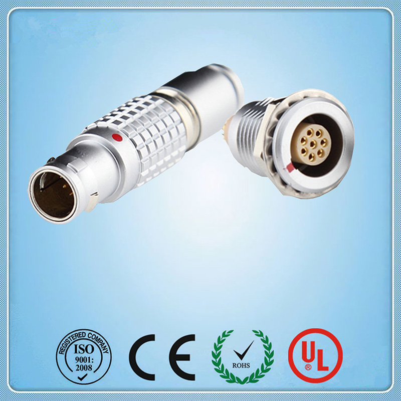 Lemo Connector,2B 8 pins Metal electrical push pull  Plug and receptacle,replacement FGG.2B.308  EGG.2B.308 compatible lemo 2b series 3pin connector fgg 2b 303 clad ecg 2b 303 cll car connector power cable connector