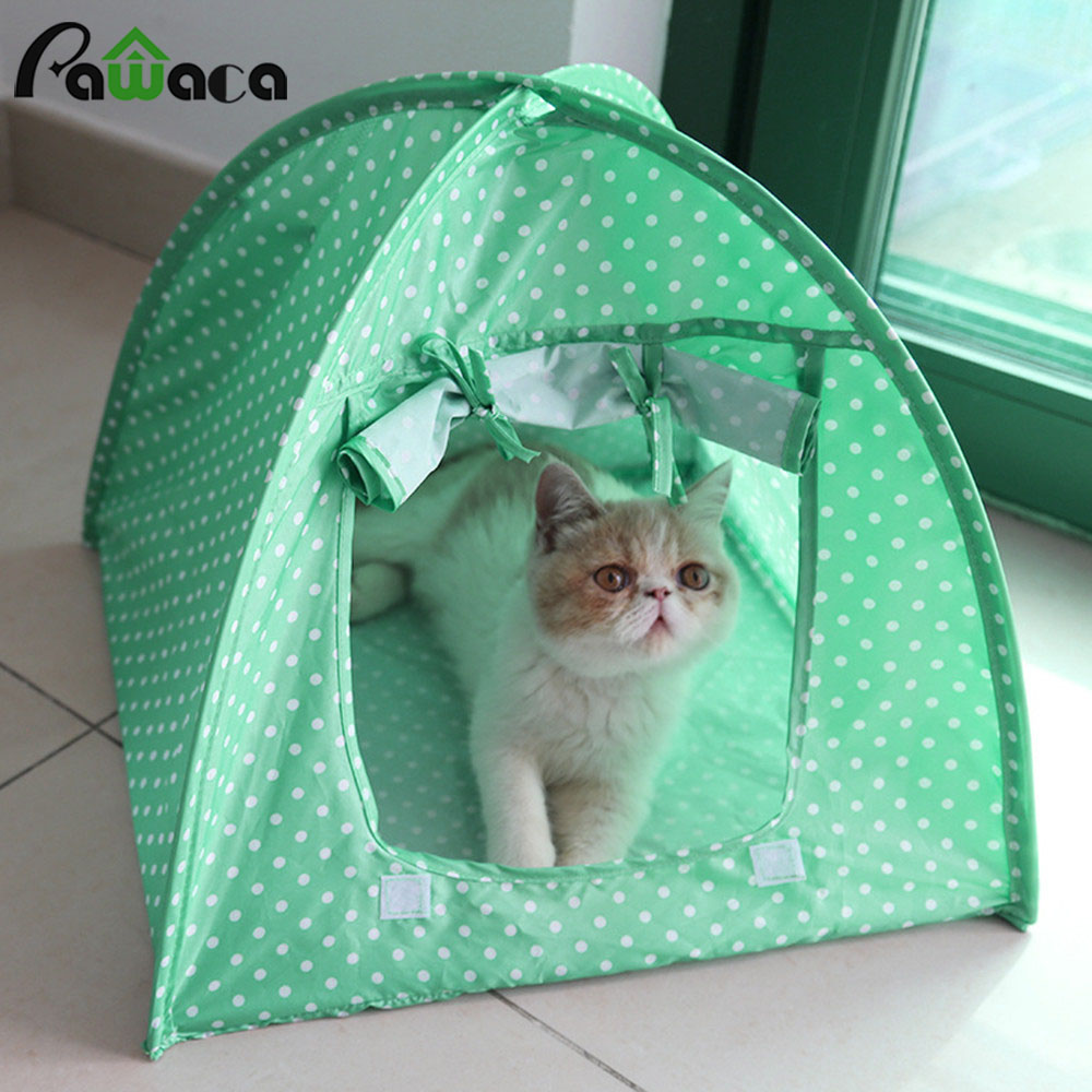 Portable Foldable Cute Dots Pet Tent Playpen Outdoor Indoor Tent For Kitten Cat Small Dog Puppy Kennel Tents Cats Nest Toy House-in Houses Kennels u0026 Pens ... & Portable Foldable Cute Dots Pet Tent Playpen Outdoor Indoor Tent ...