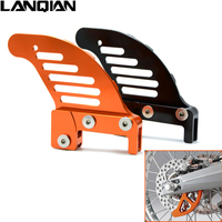 Orange motorcycle accessories cnc aluminum Rear brake disc guard potector for KTM 250 XCW/XCF-W 2006-2014 250 EXC/EXCR 2003-2005