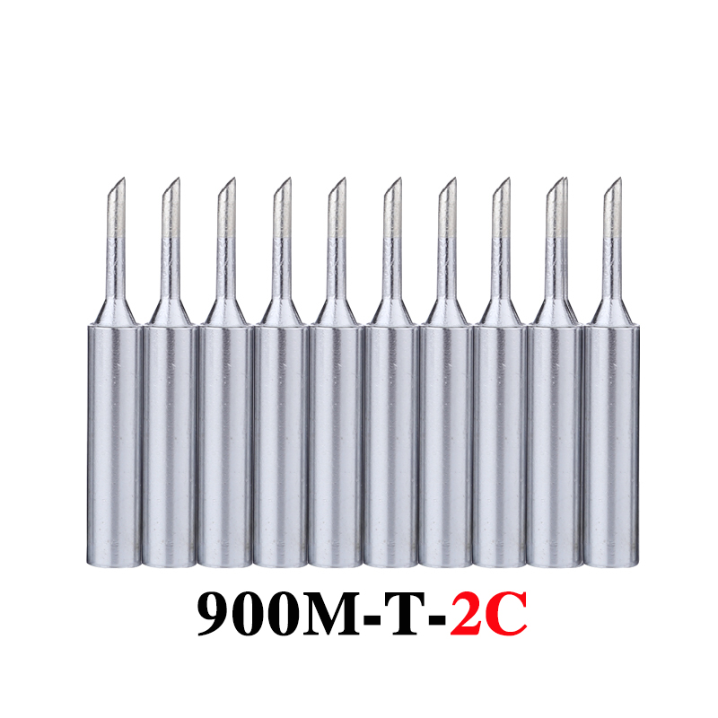 10pcs/lot Soldering Iron Tips 900M-T-2C Lead-free Metal Replacement Welding Head For 936 Soldering Station