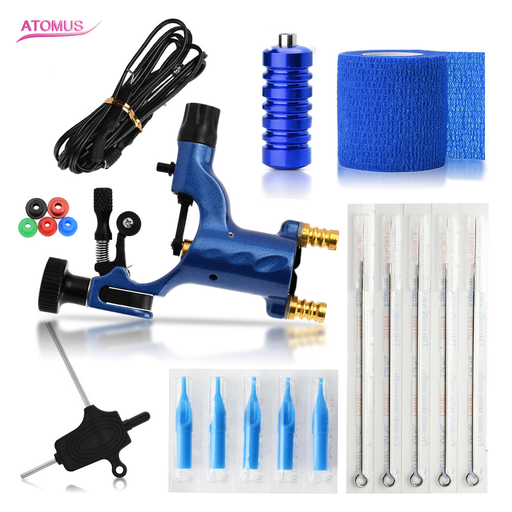 Tattoo Kit Machine Set Para Tatuar Professional Tatouage Tatuaje Set Gun Maquina De Tatuar Tatuagem Tatua Atomus Tattoo Set 1pcs new tattoo permanent makeup pen machine eyebrow tattoo gun professional tattoo maquina de tatuagem professiona tatuagem