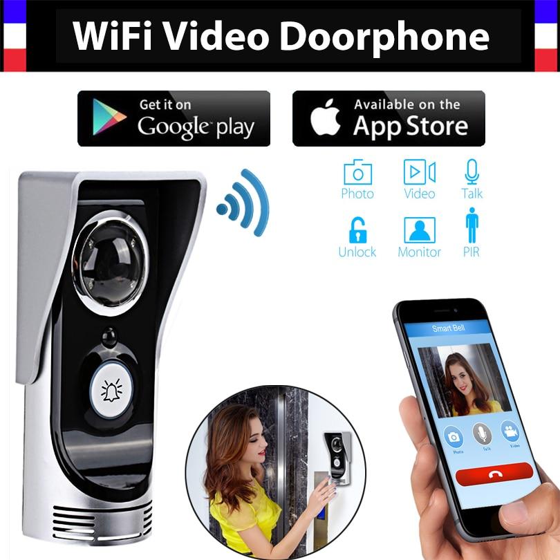 Wireless 4G WiFi 720P Video Door Phone Intercom Doorbell IP System Remote Unlock Alarm Monitor For Android IOS Phone APP