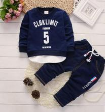 2019 Childrens Clothing Baby Boy Clothes Sports Suit for The High Quality Child 1 -4 Years Kid Boys Tracksuits QHQ042