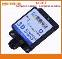 Free Ship By Quick Singapore Post LEC315 40 Degree Angle Compensation Electronic Compass Sensor Compass Module