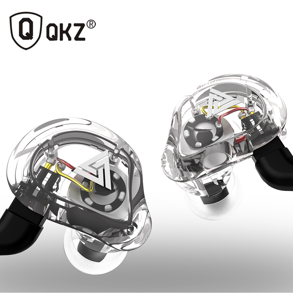 Oeiginal QKZ VK1 4 Dinamico Hybrid In Trasduttore Auricolare Dell'orecchio HIFI DJ Monito Corsa e Jogging Sport Auricolare 5 Unità di Azionamento Auricolare Auricolari ZS6 ZS10