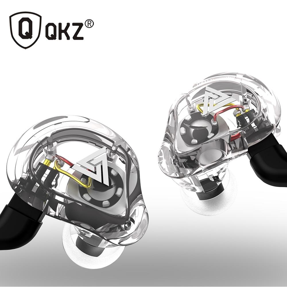 Oeiginal QKZ VK1 4 Dynamic Hybrid In Ear Earphone HIFI DJ Monito Running Sport Earphone 5 Drive Unit Headset Earbud ZS6 ZS10