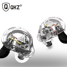 Oeiginal QKZ VK1 4 Dynamic Hybrid In Ear Earphone HIFI DJ Monito Running Sport 5 Drive Unit Headset Earbud ZS6 ZS10