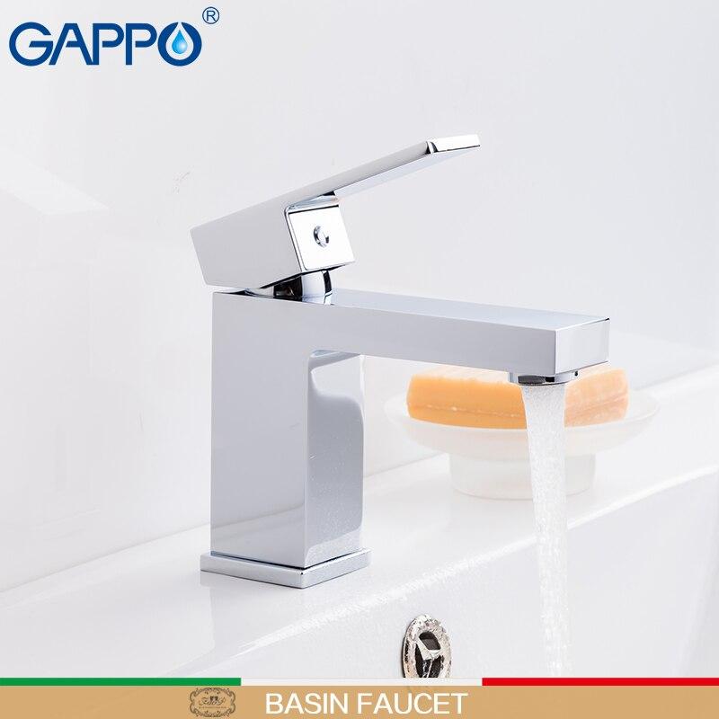 GAPPO смеситель для раковины, кран с водопадом, смеситель для ванной, смеситель для ванной комнаты, латунный Смеситель для раковины воды