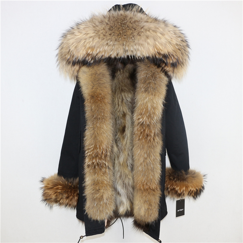 OFTBUY 2019 Winter Jacket Women Long Parka Real Fox Fur Coat Natural Raccoon Fur Collar Hood Thick Warm Streetwear Parkas New 43
