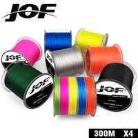 300 M JOF Marke Japan Multifilament 100% PE Geflochtene Angelschnur 10LB zu 82LB