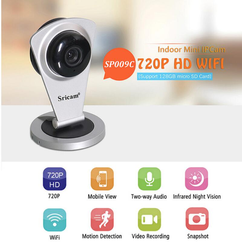 Sricam SP009C 720P HD Wireless Mini IP Camera Wifi Smart P2P Baby Monitor Network Surveillance IP Camera Mobile Remote Control