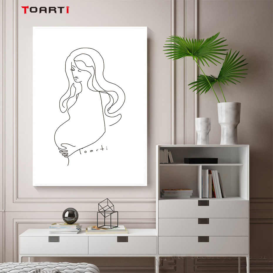 Abstract Black White Sexy Beauty Lady Canvas Art Painting Prints And Posters Wall Pictures For Living Room Modern Home Decor