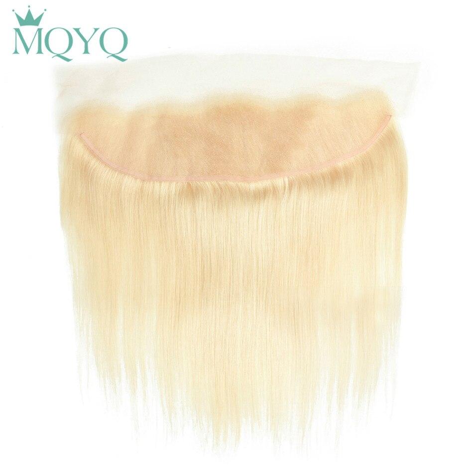 Mqyq 613 русый уха до уха Синтетический Frontal шнурка волос Синтетическое закрытие волос 13x4 бесплатная часть с ребенком волос предварительно сор...