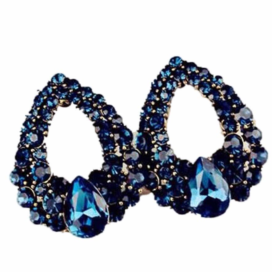 Joyería elegante para mujer, pendientes de boda a la moda, pendientes de tuerca azul oscuro, pendientes de Perlas nuevas para chicas, pendientes para mujeres, joyería de boda dsp