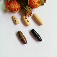 5 стилей 30 шт 21-30 мм два отверстия кнопки в форме оливки резиновые деревянные Toggles длинные большие вещевые пальто пуговица для верхней одежды