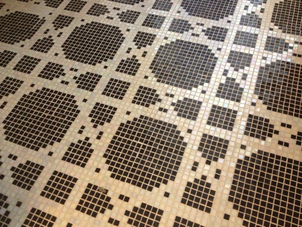 Pavimento a scacchi bianco e nero pvc home pavimento a scacchi