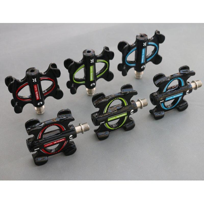 TEMANI FCFB pédale de vélo plein pédales en Fiber de carbone VTT vélos de route scellés portant des pièces de vélo ultra-légères pédales de vélo