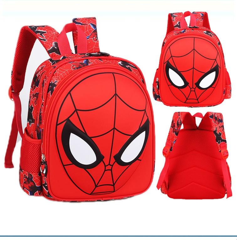 3D Spiderman Kids Primary School Backpack Boys Cartoon Spider Man Kindergarten Student Backpack Daypack Popular (5)