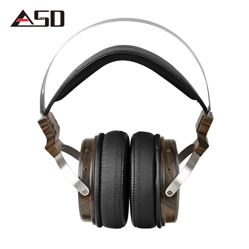 ASD MSUR N650 Wooden Metal Hifi Music DJ Headphone Headset Earphone With Beryllium Alloy Driver Portein Leather High Quality 100% original high blon b6 hifi wooden metal headband headphone headset earphone with beryllium alloy driver leather cushion