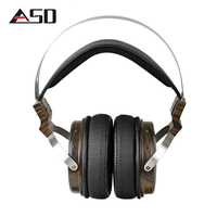 ASD MSUR N650 Wooden Metal Hifi Music DJ Headphone Headset Earphone With Beryllium Alloy Driver Portein Leather High Quality