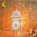 Голос аутентичные Гималайский кристалла соли лампа настольная лампа спальня лампа подарок на день рождения Утюг полые резные Книжные Огни