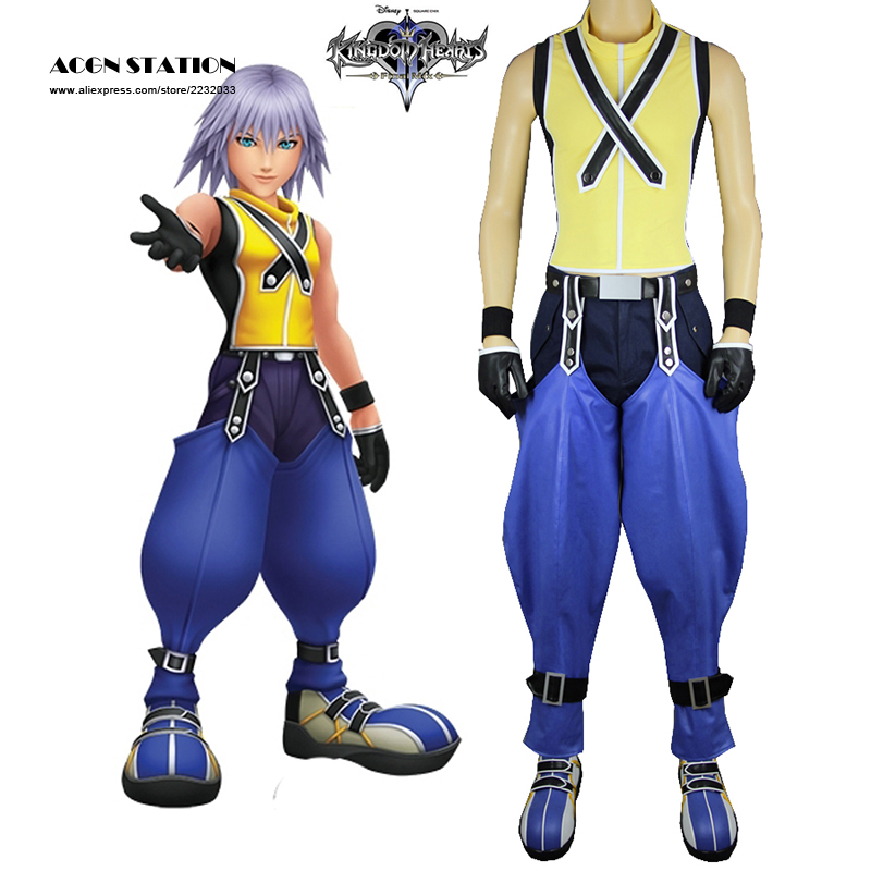 2017 Free Shipping Costume Kingdom Hearts 3D: Dream Drop Distance Riku Uniform Game Cosplay Costume For Halloween Christmas