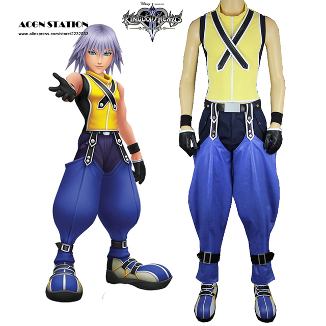 2017 Free Shipping Costume Kingdom Hearts 3D: Dream Drop Distance Riku  Uniform Game Cosplay Costume