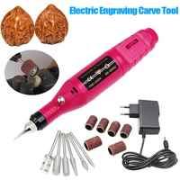 15 teile/satz DIY Schnitzen Werkzeug Elektrische Mini Grinder Carving Maschine Gravur Engraver Pen für Schmuck Metall Glas EU Stecker Heißer verkauf