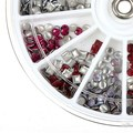 1 Wheels 3D Square Round Design Acrylic Nail Art Glitter Decoration Nails Tips Accessories For DIY Charms Fashion Manicure