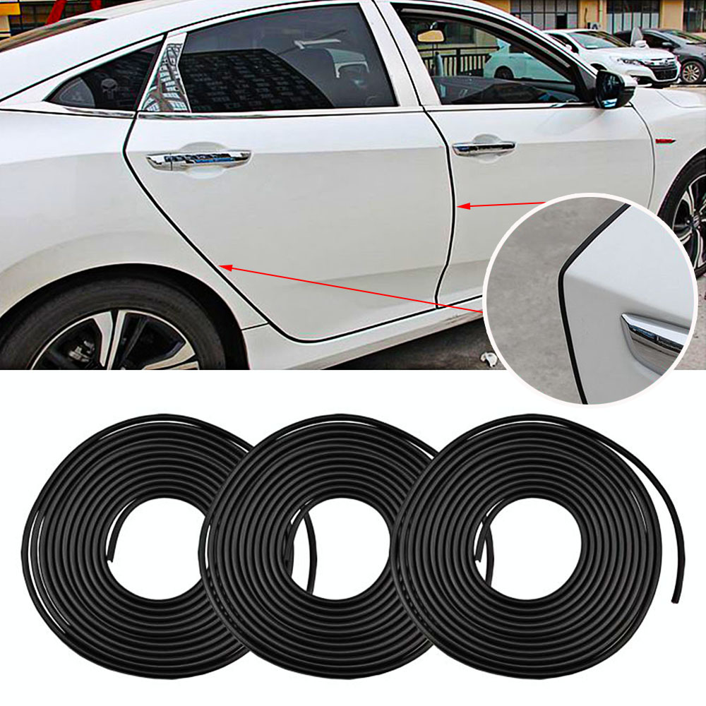 8M Universal Car Door Scratch Protector Strips Rubber Edge Doors Moldings Side Protector Sticker Scratches Vehicle For Cars Auto (1)