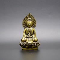 Pure copper, sitting lotus goddess of mercy, Feng Shui Collection, home decoration