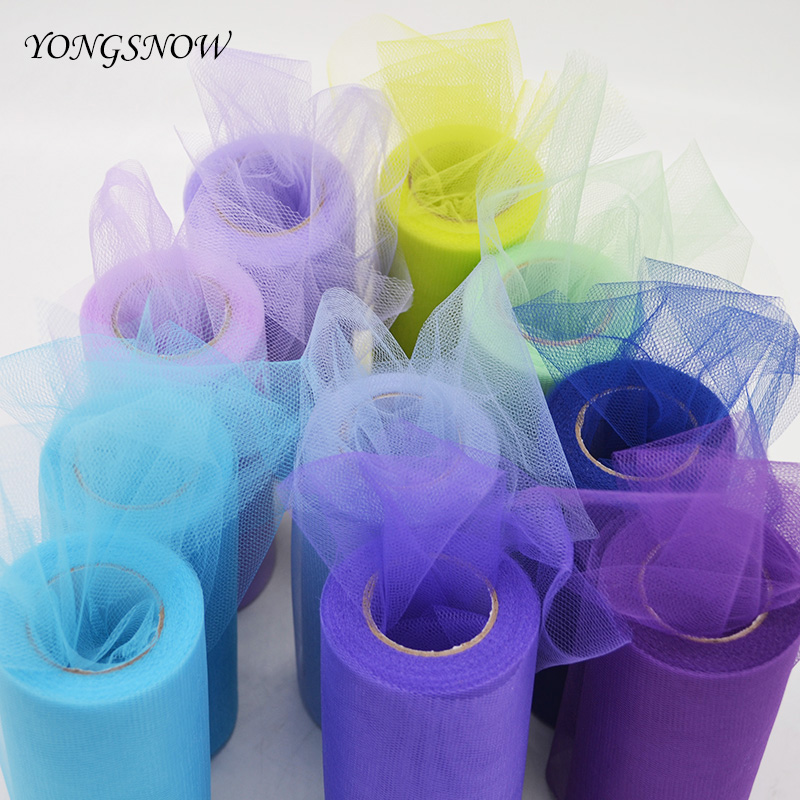 15cm*25yards Tulle Roll Fabric Spool Tutu Birthday Gift Wrap DIY Scrapbooking Craft Wedding Decoration Baby Shower Party Favor -in Party DIY Decorations ...
