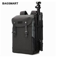 BAGSMART мужской рюкзак для камеры DSLR сумка для 15,6 ноутбуков непромокаемая дождевик для Canon Nikon аксессуары для камеры