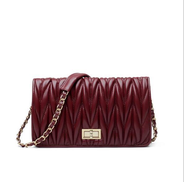 À En Luxe Cuir Messenger pink Sacs Qualité De Haute Designer D'épaule white Femmes Sac Black Main Mode Bandoulière red Véritable wxRXq0p4q
