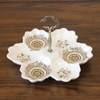 European style luxury ceramic frame/every other snacks snacks disc nut candies American fruit platter