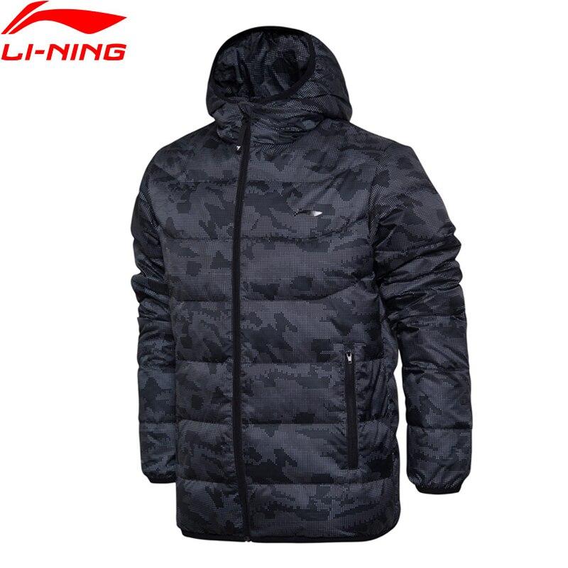 Li-Ning Men Training Short Down Jacket Warm AT PROOF WIND Comfort LiNing Winter Jackets AYMM159 MTS2693 men at arms