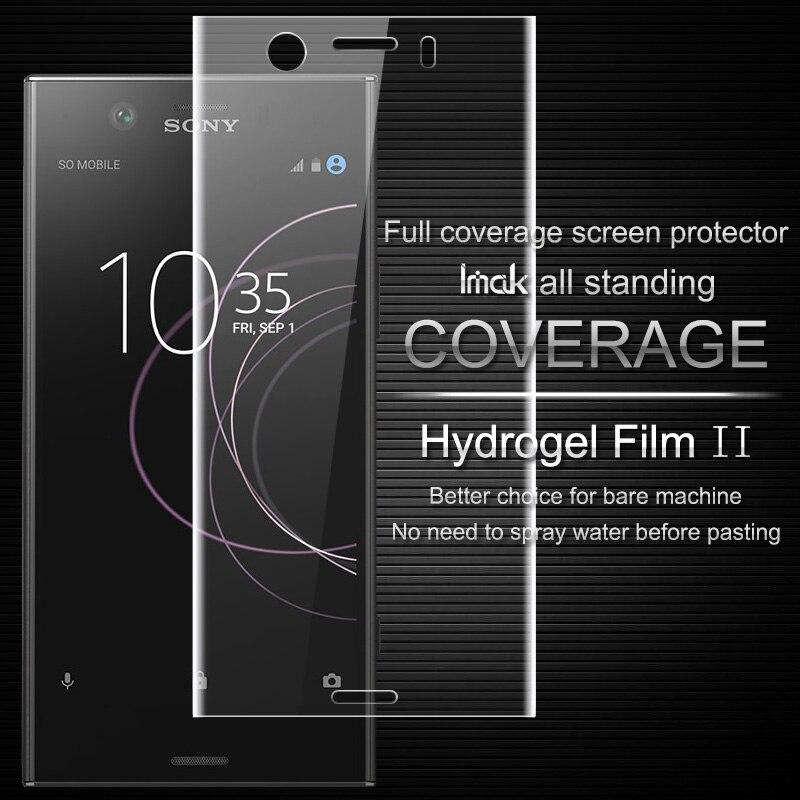 Imak Anti Glare Hydrogel Film 2th Gen for Sony Xperia XZ1 Compact 3D Full Cover Screen Protector for Sony XZ1 Compact Protector