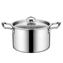 Thickened 304 Stainless Steel Cooking Soup Pot Stockpot 20CM 3.5L Saucepan Non-stick Kitchen Cookware For Gas & Induction Cooker stainless steel induction cooker thermal guide plate cooktop heat converter disk cookware for magnetic kitchen tool