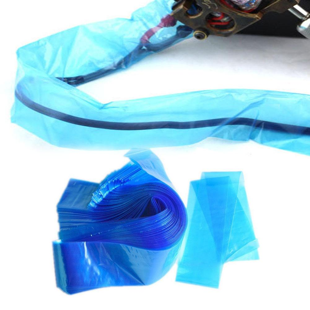 100Pcs/Set Tattoo Cable Cord Sleeves Medical Plastic Covers Body Art Equipment Protective Bags Tattoo Accessory For TattooSupply