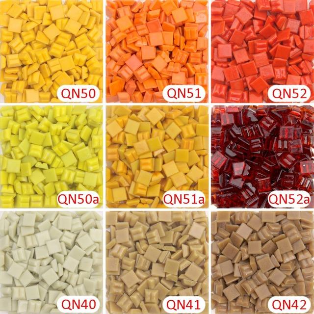 200g/280 pcs 10x10mm 3/8 Inch Orange Mosaic