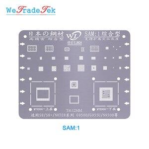 Image 5 - WL サムスン S6 S6 + S8 S8 + S7 S9 S9 + 注 C7 J3 J5 A5 0.12 ミリメートル厚さ BGA を Reballing ステンシルキット錫メッシュはんだテンプレート