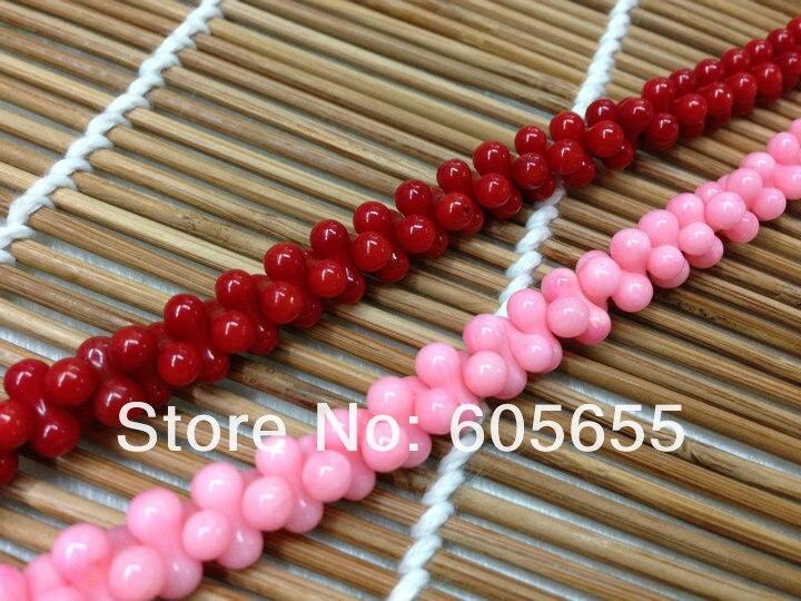 5x8 мм Красное море бамбук коралл в форме арахиса бусины для модных ювелирных изделий 10 нитей в партии