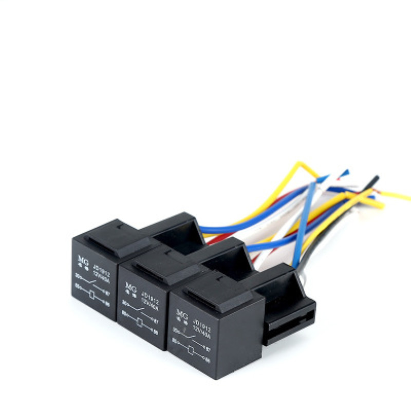 Car Relay Plum Cross Base 4 Feet With Wire Connected Body 12V 40A High Current General Relay